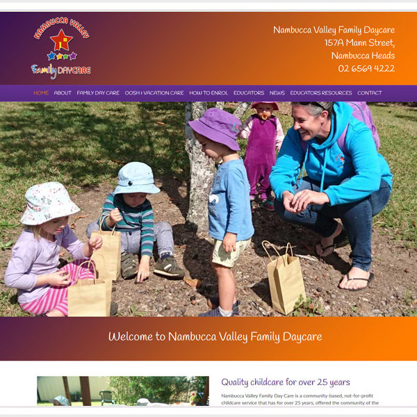 "Nambucca Family Day Care <br><a href=""http://www.nambuccafdc.com.au/"" target=""_blank"">Visit Website >></a>"